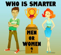 intelligent women, men vs women
