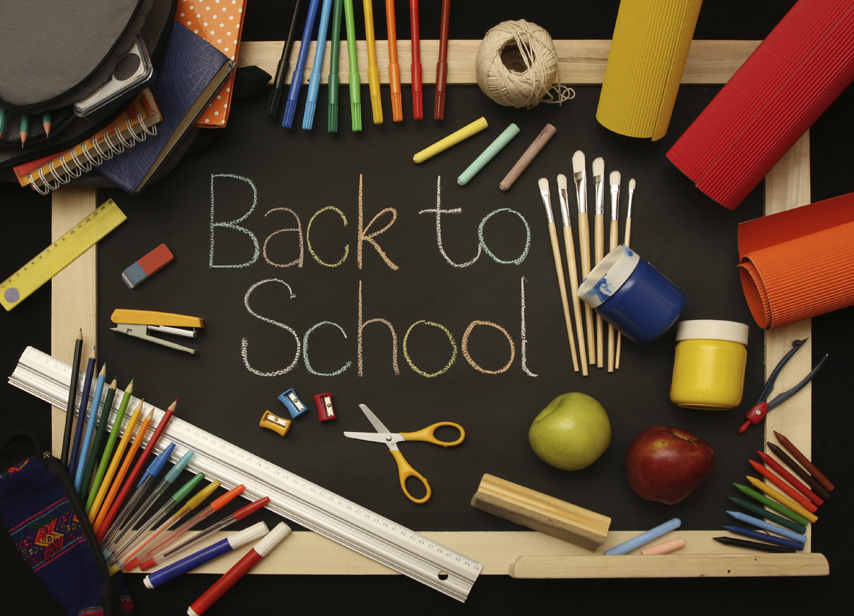 Preparations for back to school stationery