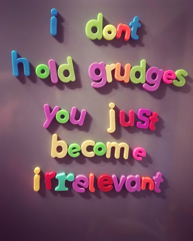 grudges and forgiveness