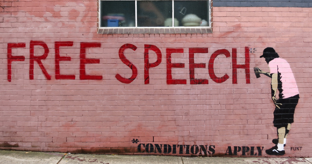 difference between freedom of speech and bullying