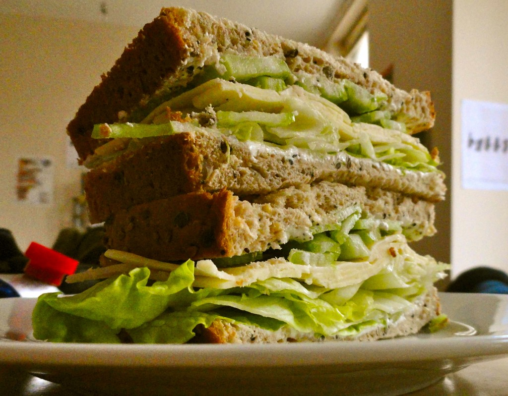 Cheese and Celery Sandwich