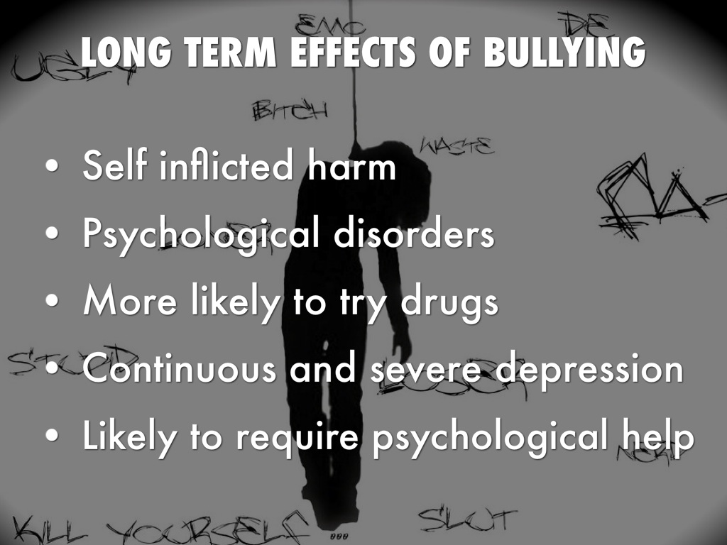 side-effects of bullying
