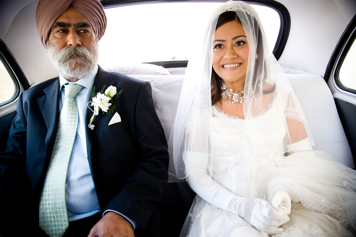 Sikh Father with his christian daughter!