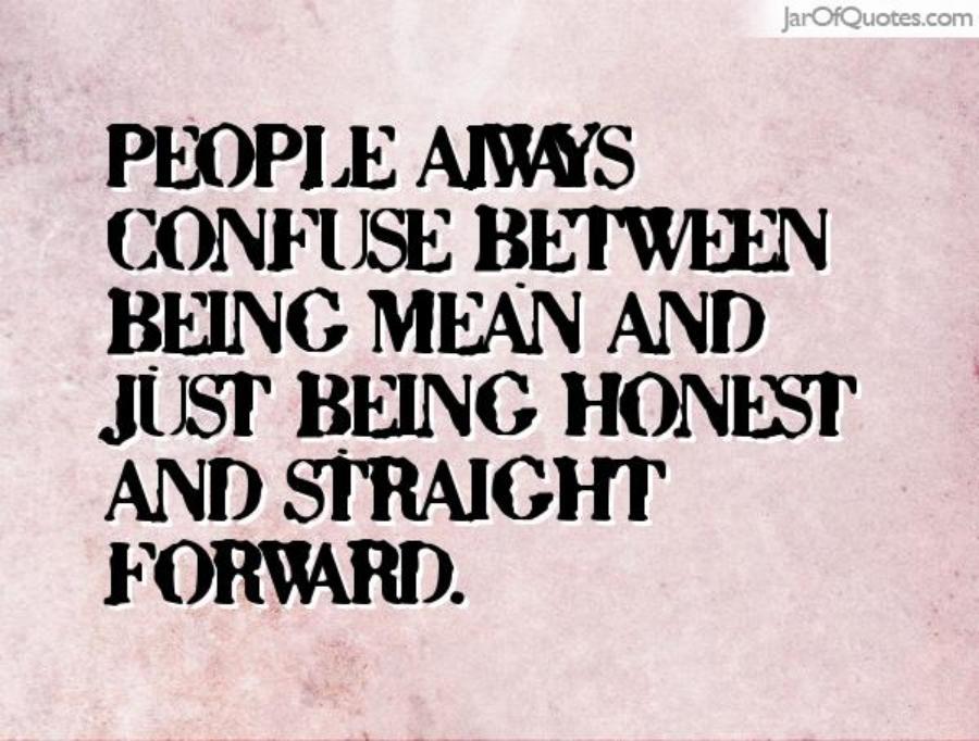 Straightforward person