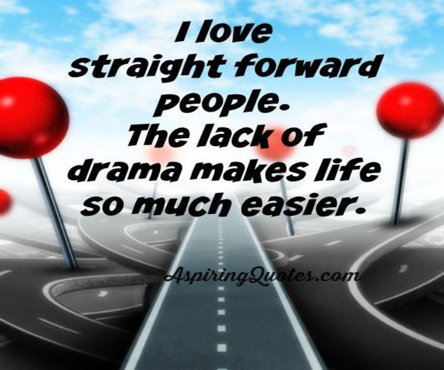 Straightforward people