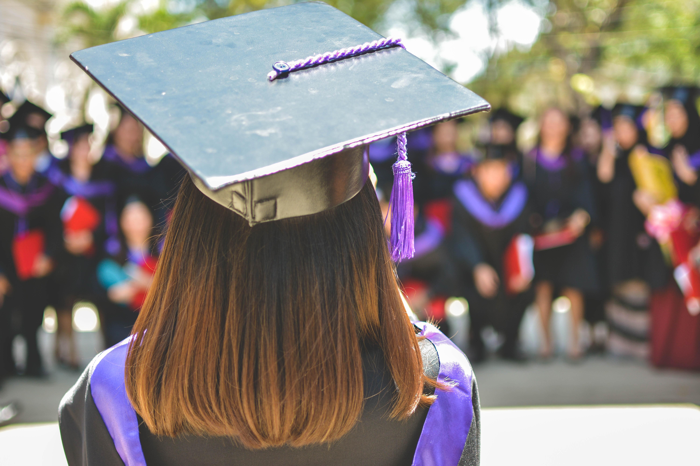 Intelligent graduated girl student
